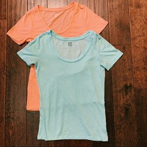 Pink and blue classic t shirts